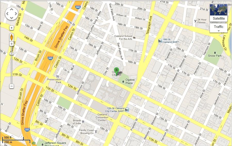 Oakland City Hall location