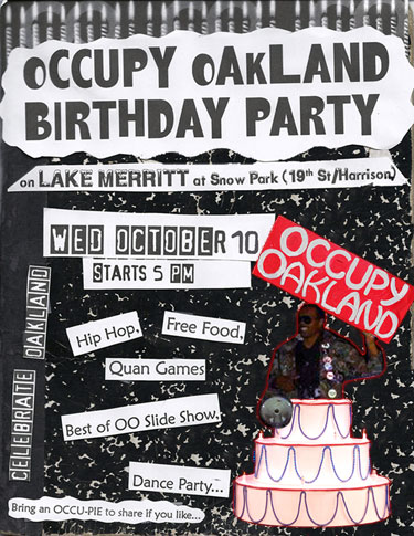 Occupy Oakland Birthday Party @ Snow Park | Oakland | California | United States
