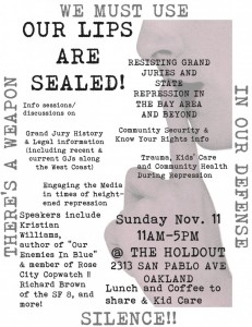 Resisting Grand Juries and State Repression @ The Holdout | Oakland | California | United States