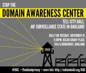 Stop the Domain Awareness Center Rally! @ Oscar Grant Plaza amphitheater | Oakland | California | United States