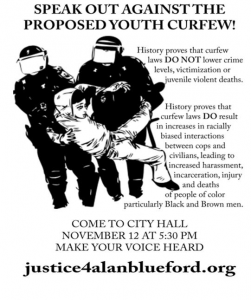 Youth Curfew Proposal At City Council Public Safety Committee @ Oakland City Hall | Oakland | California | United States