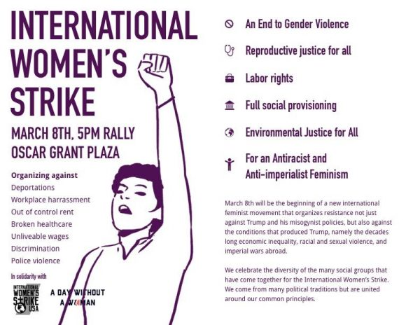 International Women's Day: Women's Strike, Rally, Speakout, More @ Oscar Grant Plaza | Oakland | California | United States