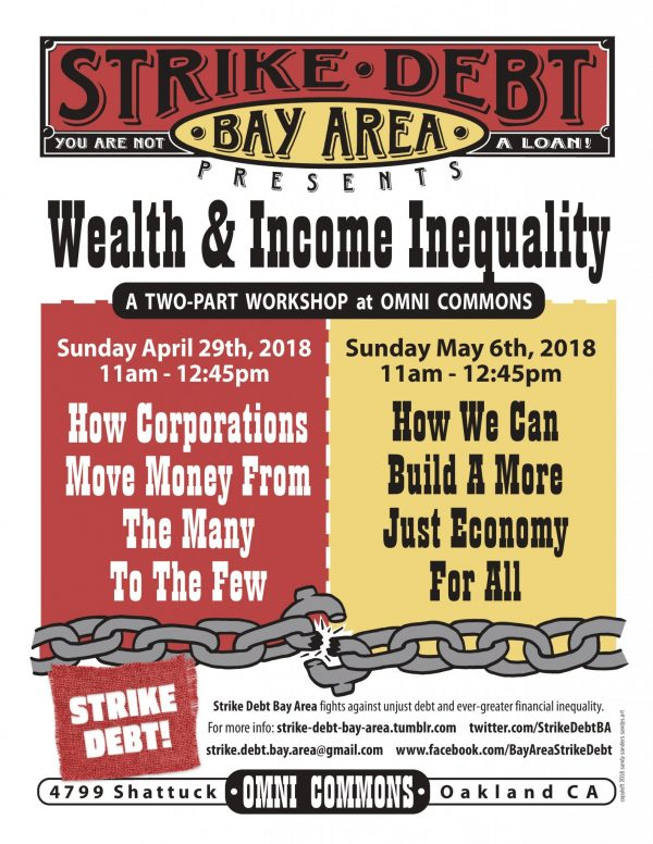 Wealth & Income Inequality Seminar - Strike Debt Bay Area @ Omni Commons, Disco Room (upstairs) | Oakland | California | United States