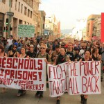 """Preschools not Prisons! - Solidarity w/ Hunger Strikers"" & ""Fight the power - Take it all back"""