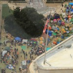 aerial view of the camp as of Friday the 14th