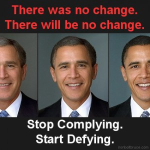 Occupy Australia! Bushbama trades unearned Nobel Peace Prize for Salesman-of-the-Year Trophy from U.S. Defense Contractors