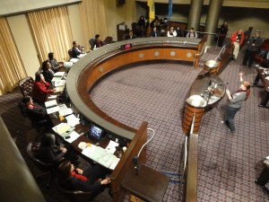 Oakland City Council Members ignoring Occupy Oakland Speakers during the City Council Meeting on Dec 20, 2011.