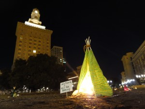 Mini Teepee Protest - Jan 08, 2012