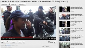 OPD arresting Occupy Oakland Protesters - Dec 30, 2011