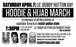 HOODIE & HIJAB MARCH following this Saturday's BBQ – April 7 – 7:30pm