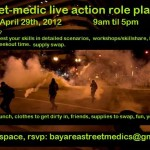 street medic larping flyer