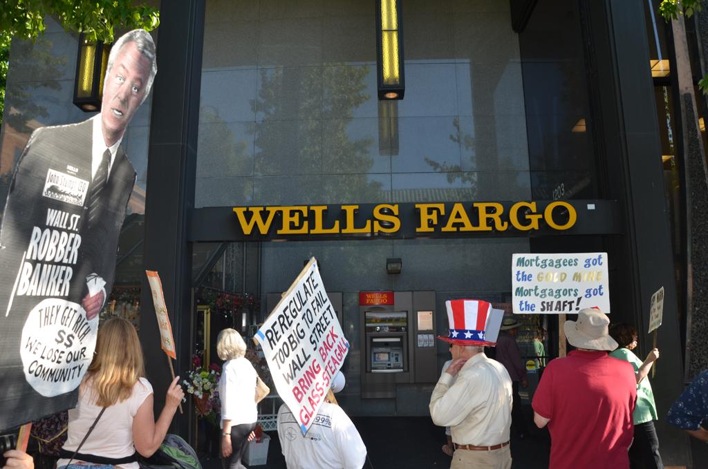 Occupymarin wells fargo foreclosure rally 7 11 2012 for Wells fargo reo