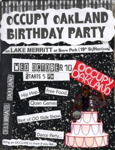 Occupy Oakland Birthday Party