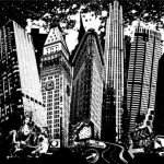 cityscape graphic of Oaklands skyline by Geremy George