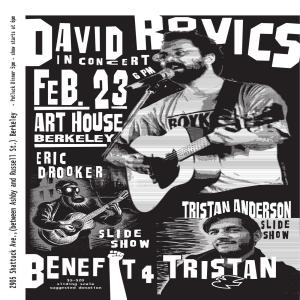 David Rovics & Eric Drooker Benefit Concert for Tristan Anderson @ The Art House | Berkeley | California | United States