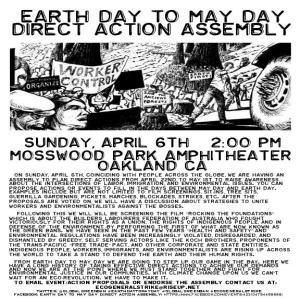 Organize for Earth Day to May Day Direct Action Assembly meeting @ The Sudoroom | Oakland | California | United States