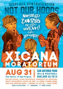 35th Annual Xicana Moratorium Day: Displace Gentrification not OUR Hoods @ San Antonio Park | Oakland | California | United States