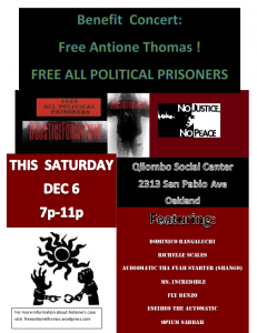 Benefit Concert: Free Antione Thomas! @ Qilombo | Oakland | California | United States