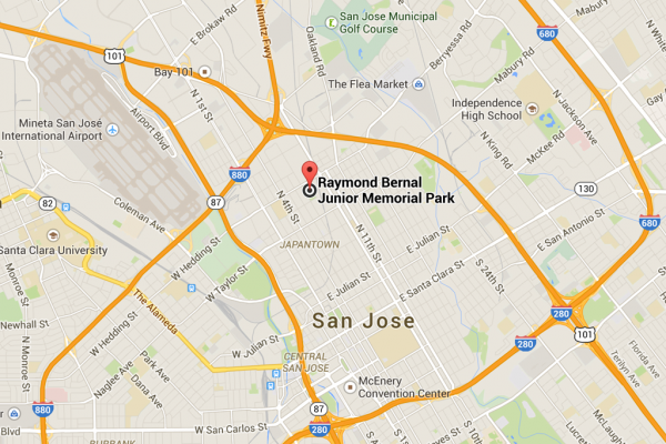 Raymond_Bernal_Park_San_Jose_California_Map