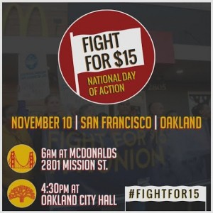 Fight for $15 - National Day of Action - Oakland @ Oscar Grant Plaza amphitheatre | Oakland | California | United States
