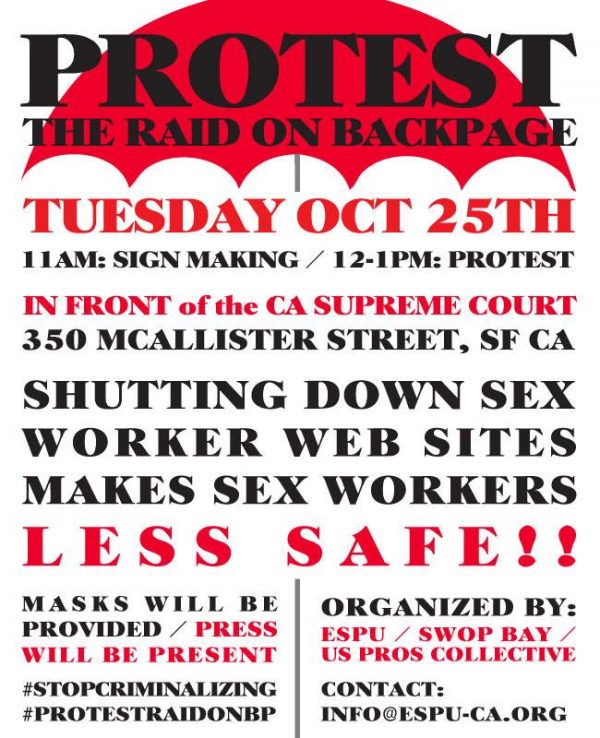 Protest the Raid on BackPage @ CA Supreme Court | San Francisco | California | United States