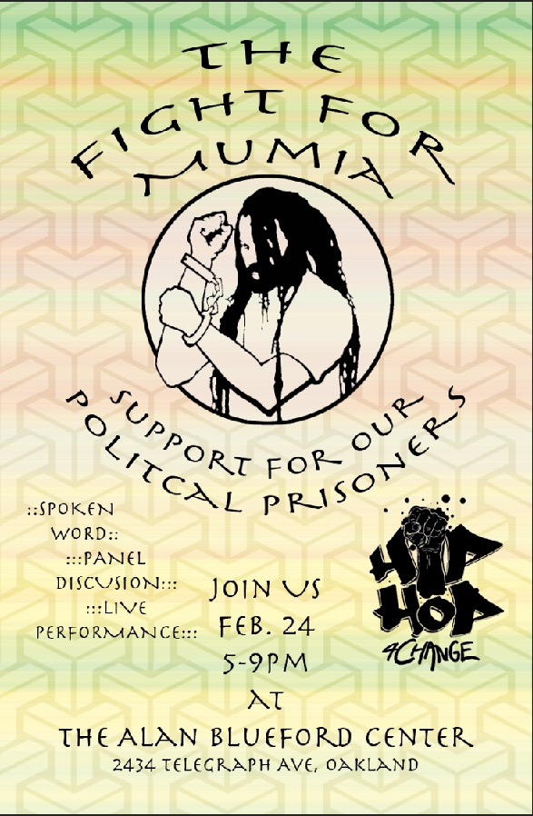 The Fight for Mumia - Support for our Political Prisoners @ Alan Blueford Center for Justice | Oakland | California | United States