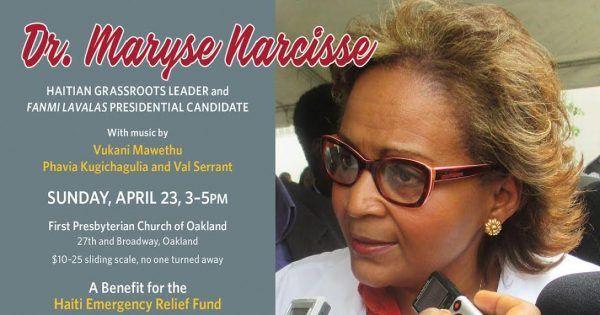 Benefit for the Haiti Relief Fund: Dr. Maryse Narcisse @ First Presbyterian Church | Oakland | California | United States