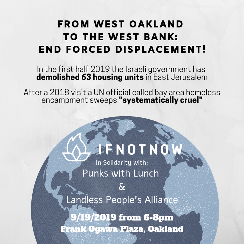 From the West Bank to Oakland: End Forced Displacement! @ Oscar Grant Plaza